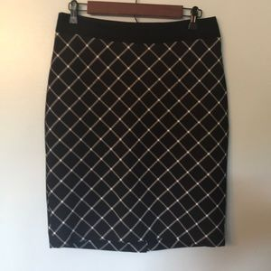 Black/White Pencil Skirt